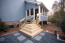 bluestone & slate chip patio