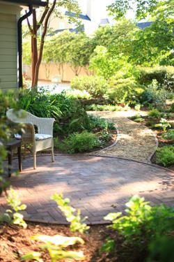 restored Five Points garden - patio