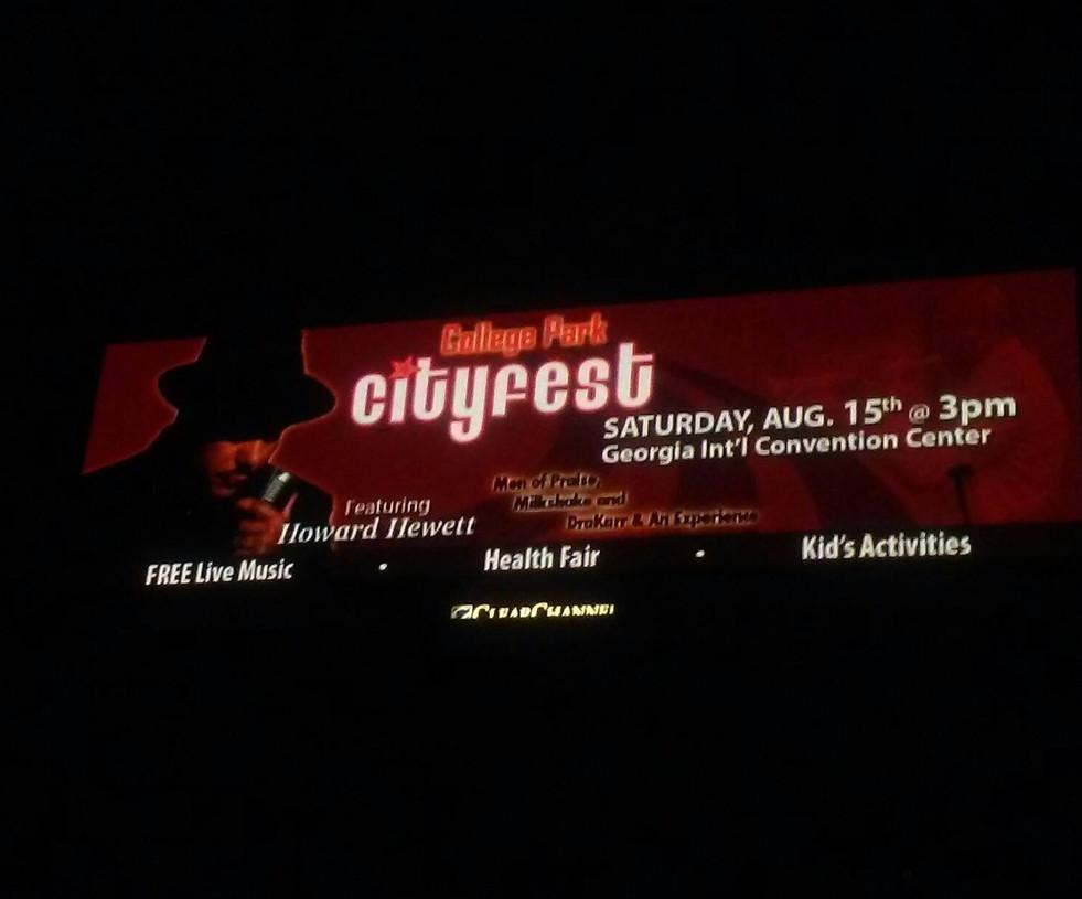 Cityfest Advertisement Electronic Billboard