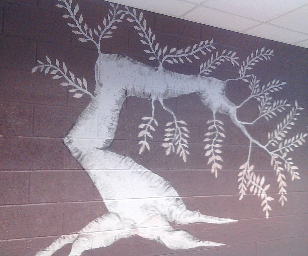 Wall Painting-Bonsai