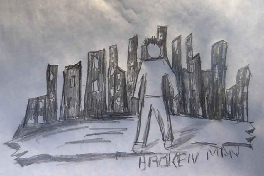 Broken Man Album Design Draft