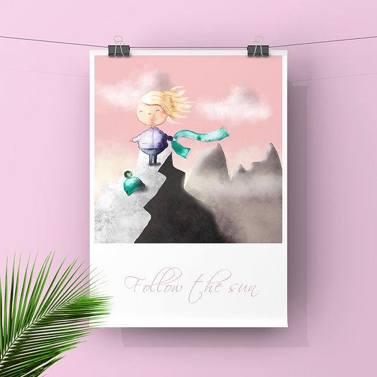 Follow the Sun - Art Print
