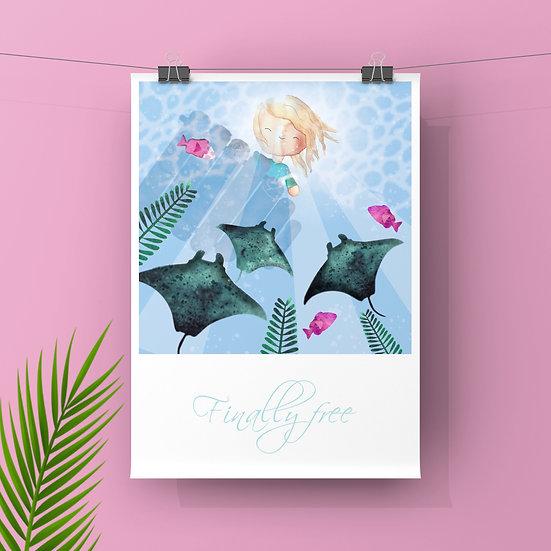 Finally Free - Art Print