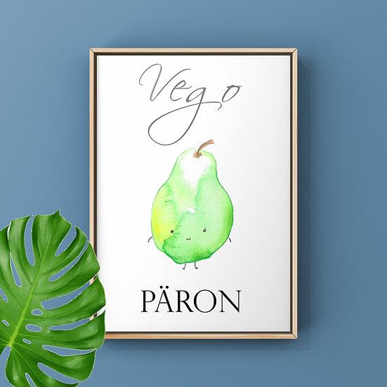 Vego-Print Päron