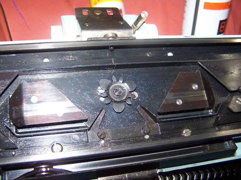 pattern wheel in place