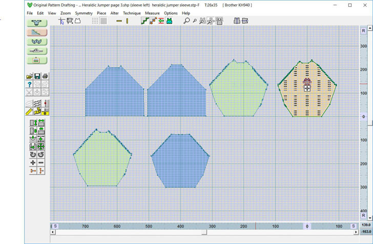 Designaknit 8 Original Pattern Drafting Screen