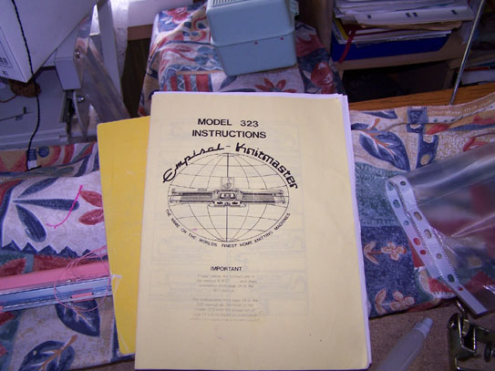 Knitmaster 324-326 knitting machine instruction manual.