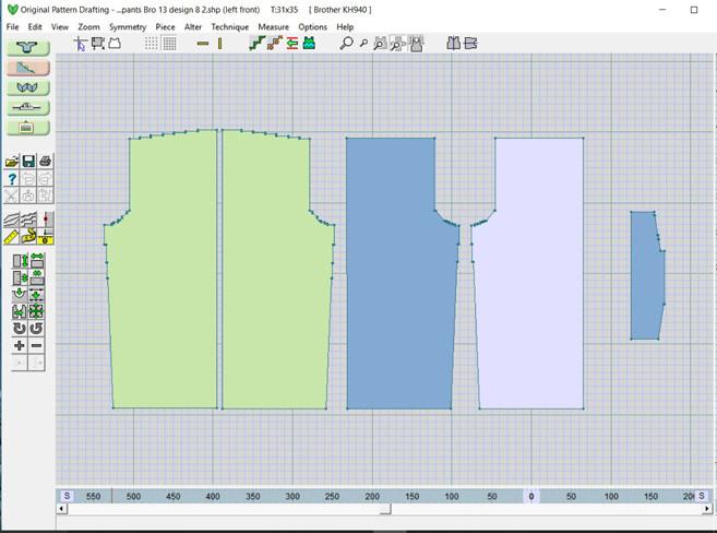 Designaknit 8 - original pattern drafting screen