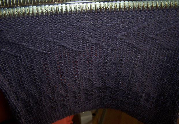 Knitmaster 250 Sample