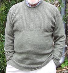 Circular knit and garter carriage jersey