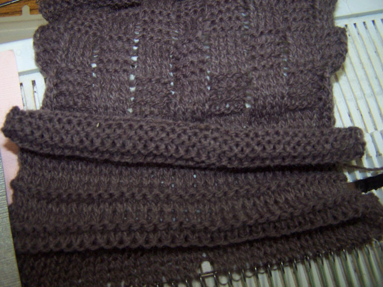 Garter stitch sample