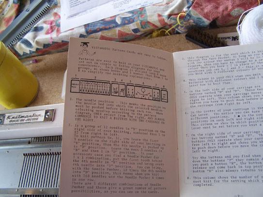 Knitmaster 100 pattern book