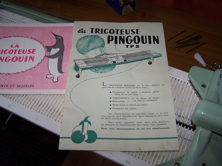 Pingouin Instruction Manual in French