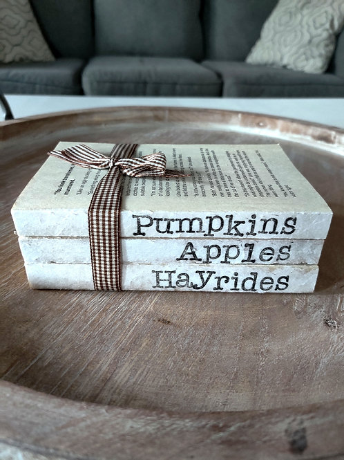 Pumpkins, Apples, Hayrides Farmhouse Bookstack