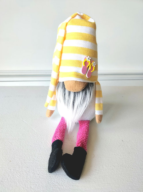 flip Flop Gnome - Yellow Stripe Hat