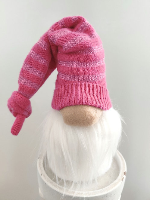 Hot Pink Stripes Gnome