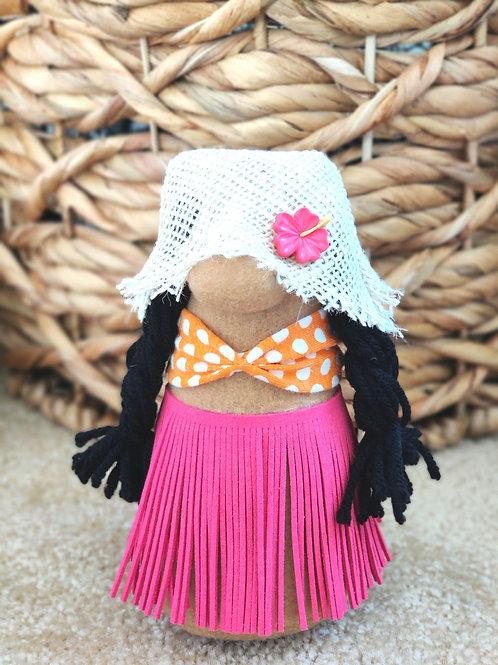 Orange top Hula Girl