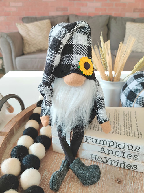 Buffalo Check Sunflower Gnome