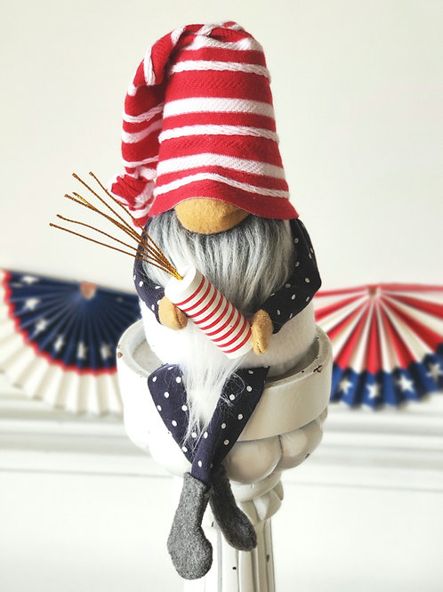 Firecracker Patriotic Gnome