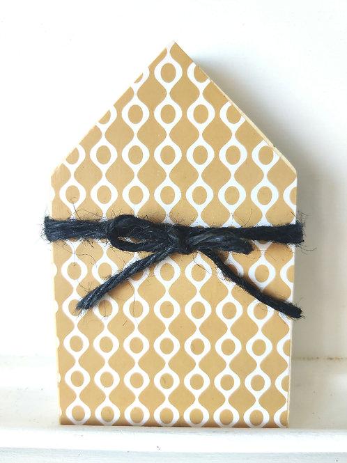 Mustard Mini Wood House
