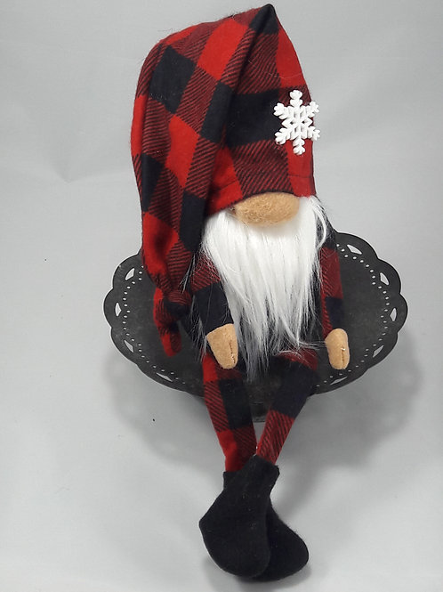 Red Buffalo check gnome