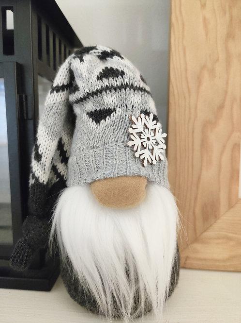 Snowflake Gnome- Gray