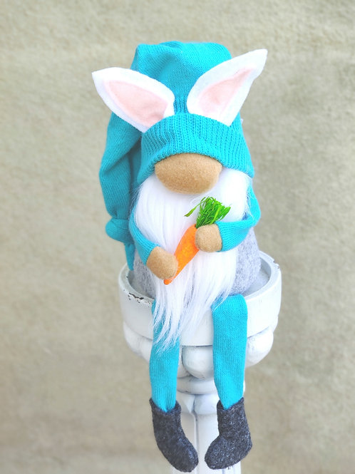 Turquoise Bunny Gnome