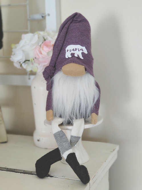 Lavender Mama Bear Gnome
