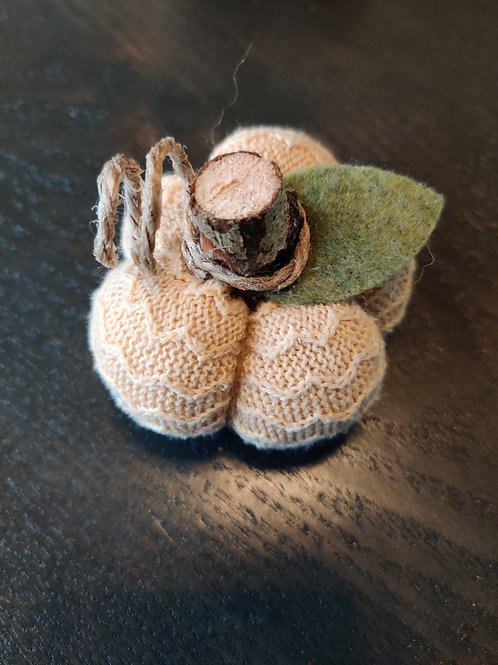 Mini Mustard Sweater Pumpkin