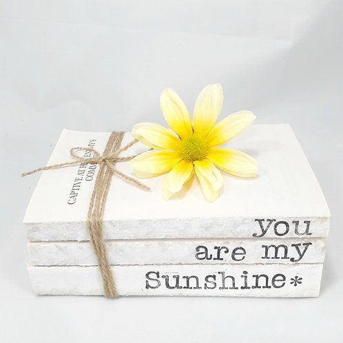 You Are My Sunshine Stamped Book Stack