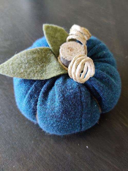 Small Teal Sweater Pumpkin