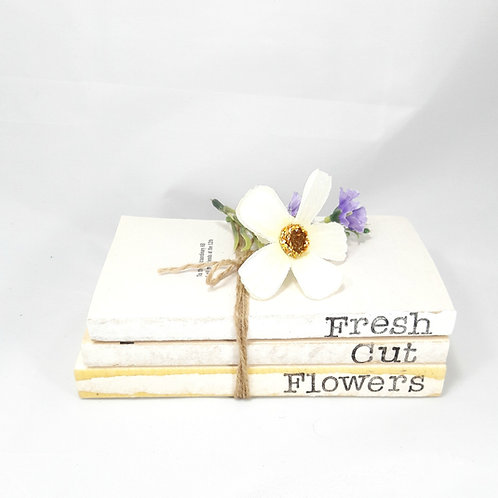 Fresh Cut Flowers Book Stack