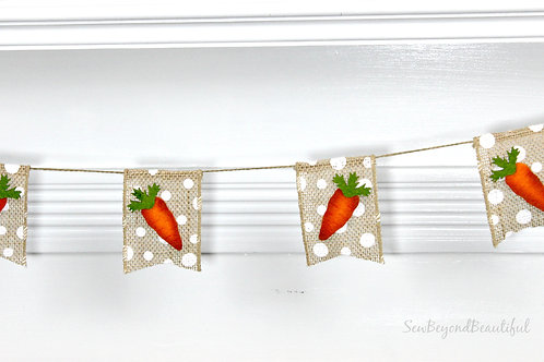Carrot, Polka Dot Burlap Garland