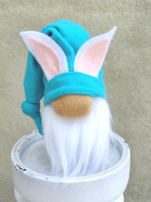 Turquoise MINI Bunny Gnome