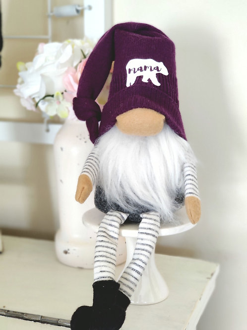Purple Mama Bear Gnome