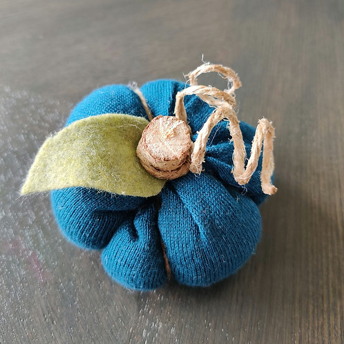 Mini Teal Sweater Pumpkin