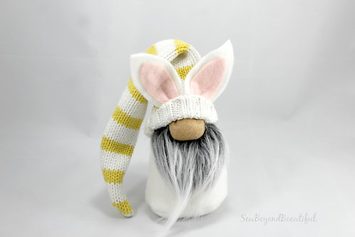 Yellow Stripe Bunny Gnome