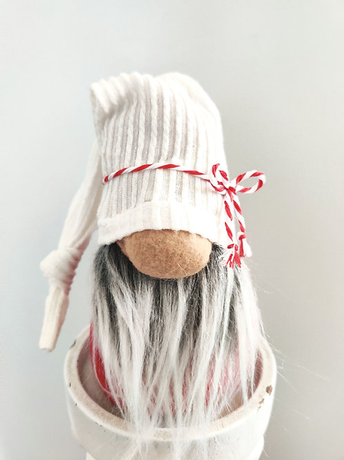 Small Red and White Gnome