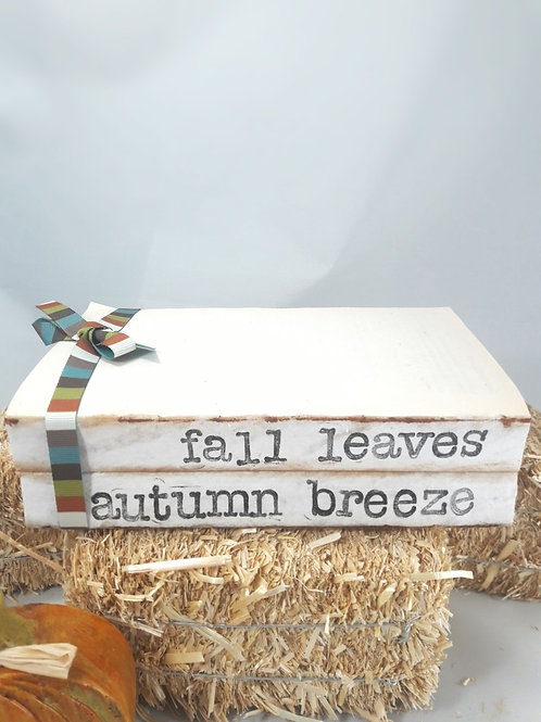 Fall Leaves Autumn Breeze Book Stack
