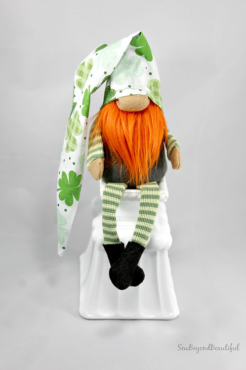 Striped Leg Shamrock Gnome