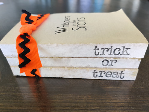 Orange Trick or Treat Bookstack