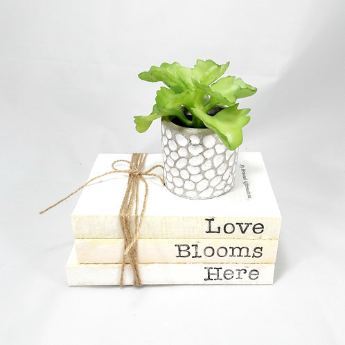 Love Blooms Here Book Stack