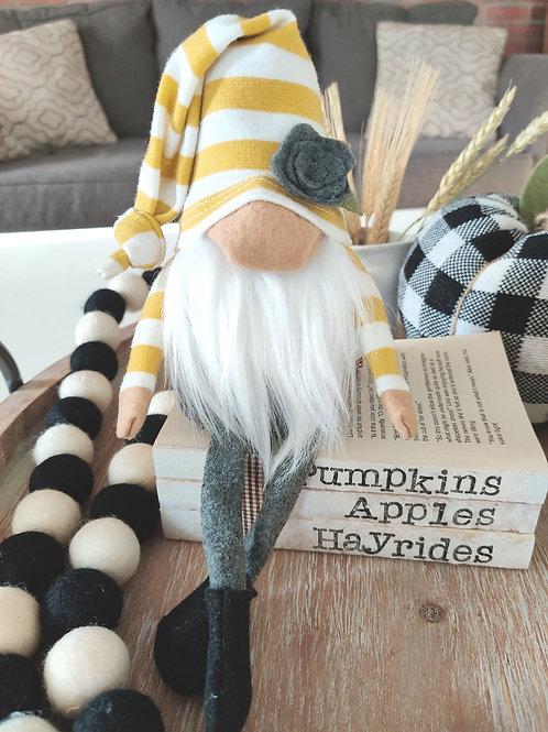 Mustard Stripe and Gray Gnome