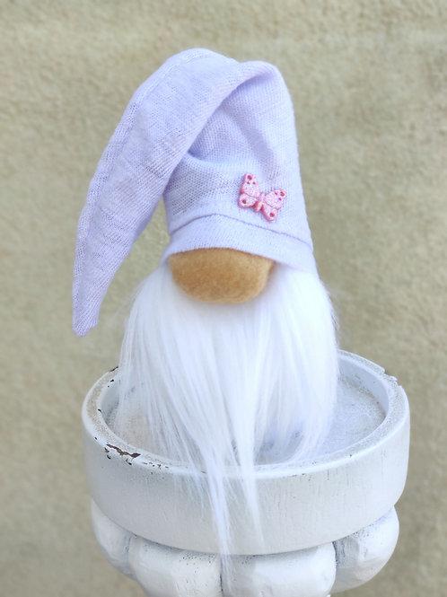 Mini Lavender Butterfly Gnome