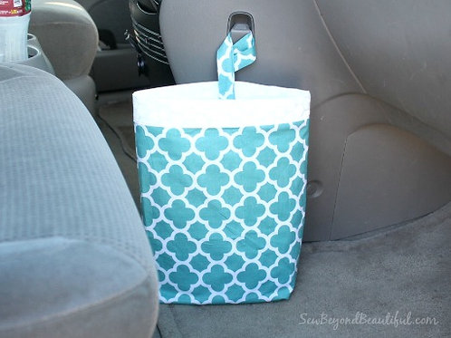 Trash Bag for the Car- turquoise