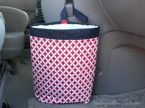 Trash Bag for the Car- Red, White, and Blue
