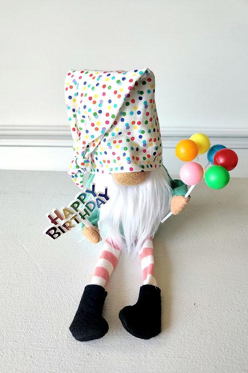 Happy Birthday Gnome-flippy hat