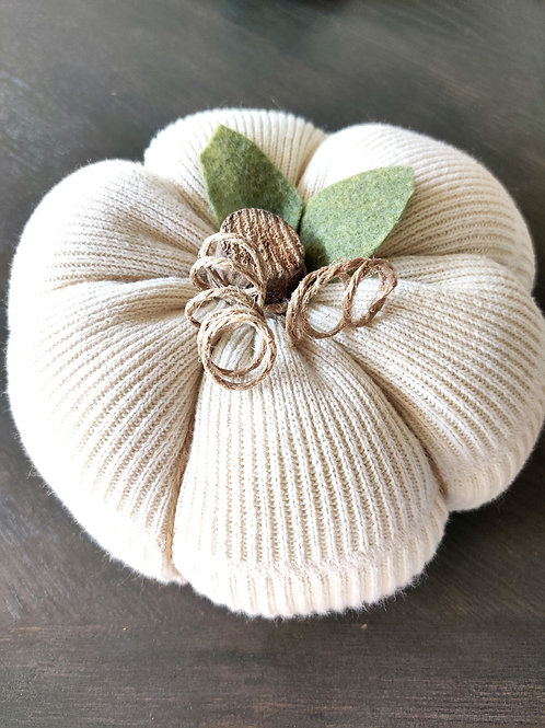 Large Cream Sweater Pumpkin