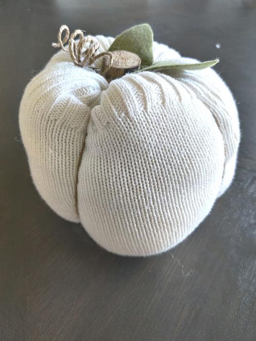 Large Ivory Sweater Pumpkin