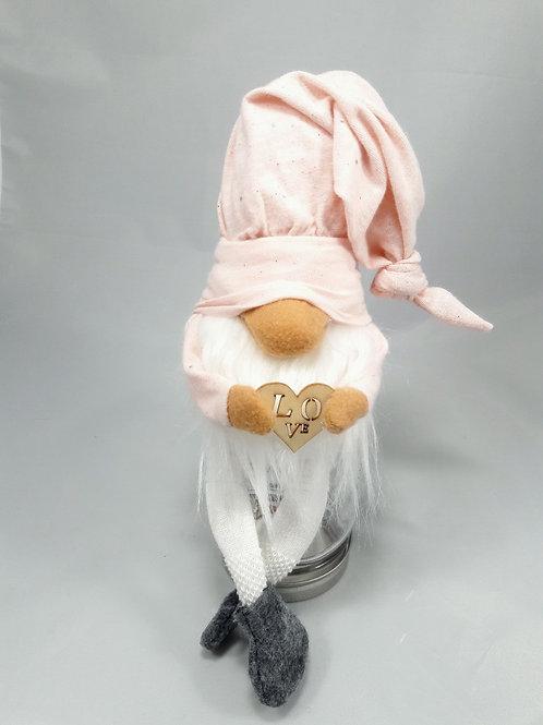 Pink Hat/love Valentine Gnome